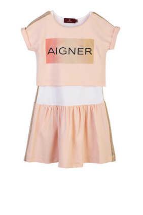 فستان بشعار الماركة غليتر