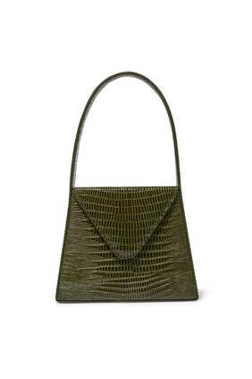 حقيبة ليزا صغيرة بنقشة جلد الزواحف