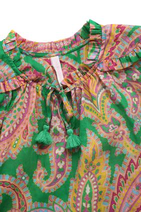 فستان تيدي بطبقات وأكمام طويلة