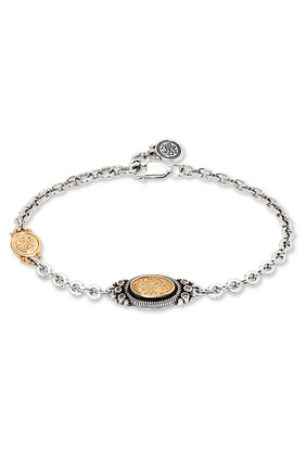 Silver / Gold Bracelet:Silver and gold:One Size
