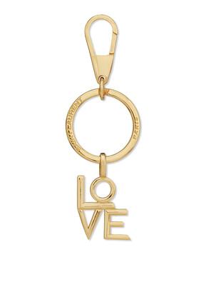 سلسلة مفاتيح بحلية بتصميم كلمة Love