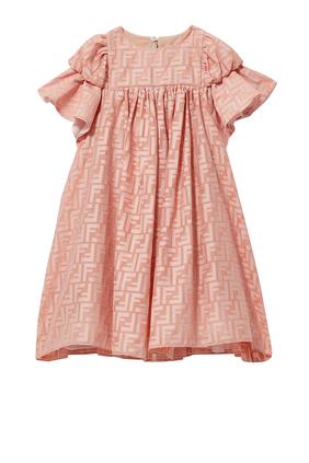 فستان بأكمام كشكش