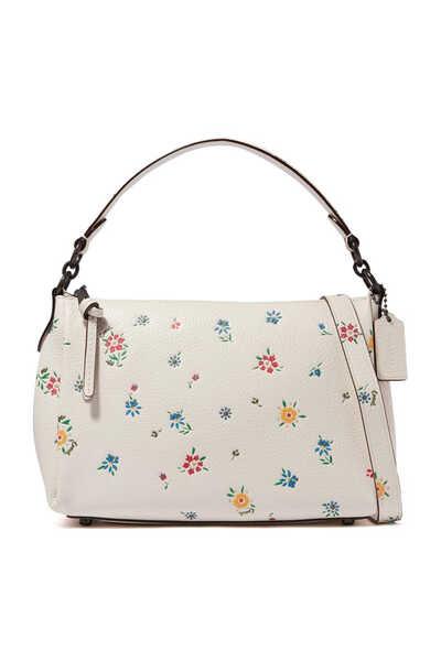 حقيبة شاي كروس جلد بنقشة زهور برية