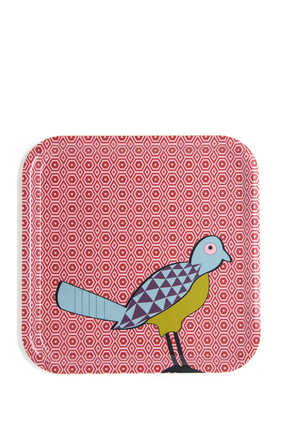 IDO Square Tray Birds of Paradise:Multi Colour:One Size