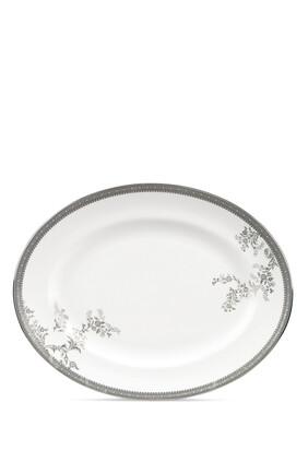 طبق بيضاوي فيرا وانغ ليس بلون بلاتيني 35 سم