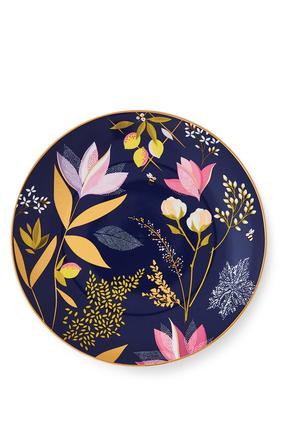 طقم أطباق كيك سارة ميلر لندن بنقشة زهور أوركيد، 4 قطع