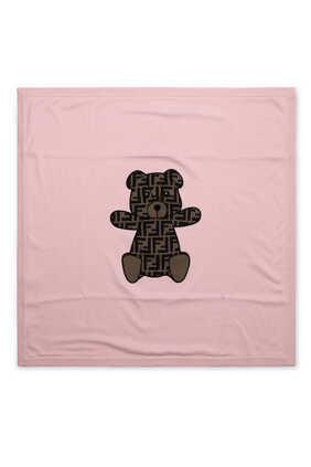 بطانية برقعة دب بنقشة شعار FF