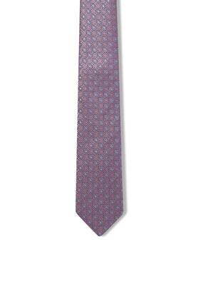 ربطة عنق حرير بنقشة زهور