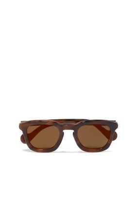 نظارة شمسية بإطار على شكل حرف D بنقشة صدفة السلحفاة