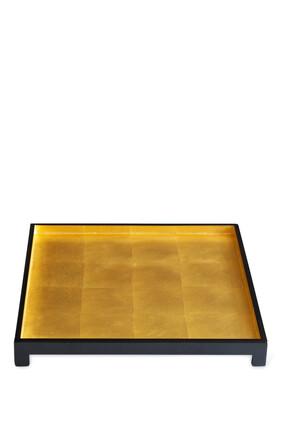 صينية لندن بتصميم مربع من رقائق الذهب