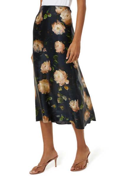 تنورة سهلة الارتداء بنقشة زهور