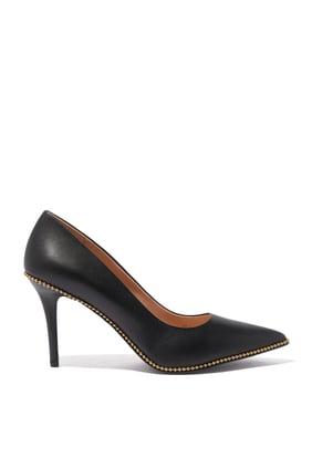 حذاء كلاسيك ويفرلي جلد بسلسة خرز