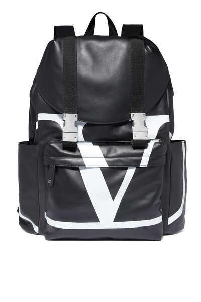 حقيبة ظهر فالنتينو غارافاني جلد بشعار الماركة