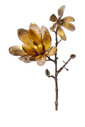 زينة بتصميم نبات الماغنوليا بساق لشجرة الكريسماس
