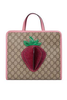 حقيبة يد برقعة فراولة بارزة