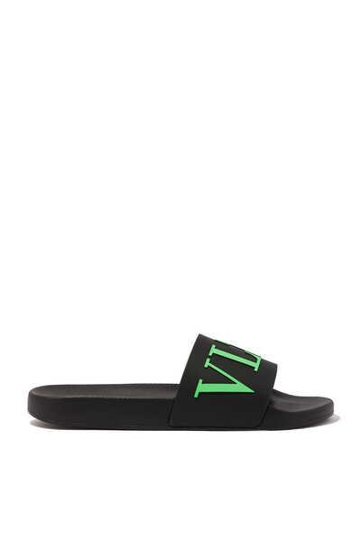 حذاء مفتوح فالنتينو غارافاني بشعار VLTN