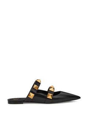 حذاء مفتوح من الخلف فالنتينو غارافاني رومان بحلي هرمية